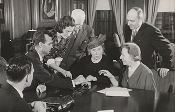 Photograph of Helen Keller at AFB