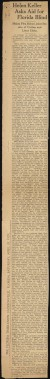 "Thumbnail of Newspaper article entitled ""Helen Keller Asks Aid for Florida Bli..."
