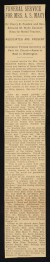 "Thumbnail of Newspaper article from the NY Times entitled ""Funeral Service for..."