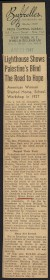 Thumbnail of Article from the New York World-Telegram about Palestine Lighthou...