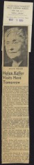 Thumbnail of Article from the Sheffield Tri-Cities Daily about Helen Keller's ...