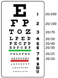 driver license eye test letters