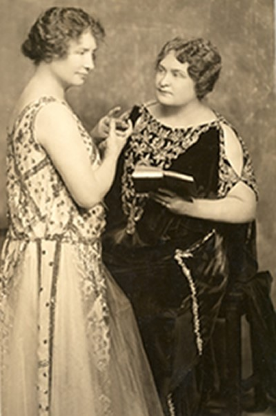 Helen Keller and Anne Sullivan Macy