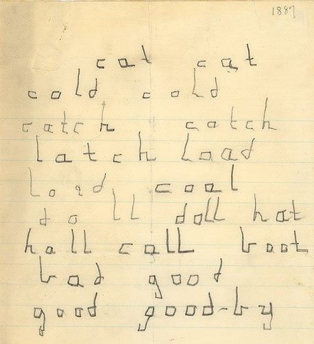 Helen's early writing