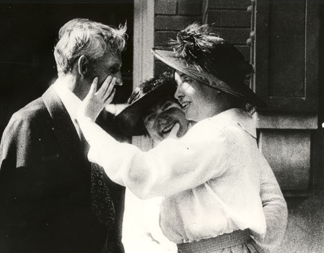 Photograph of Helen, Anne and Henry Ford, 1920