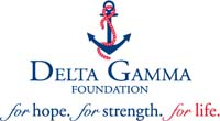 Image of anchor. Below anchor reads, Delta Gamma Foundation. for hope. for strength. for life
