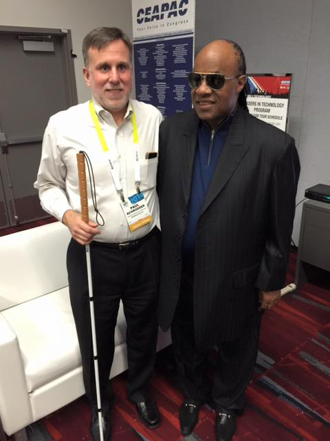Paul Schroeder and Stevie Wonder
