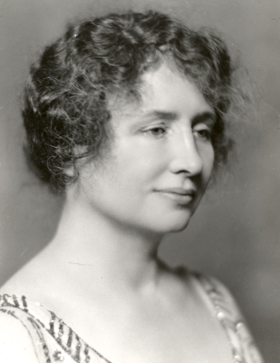 Helen Keller head and shoulders portrait circa 1920