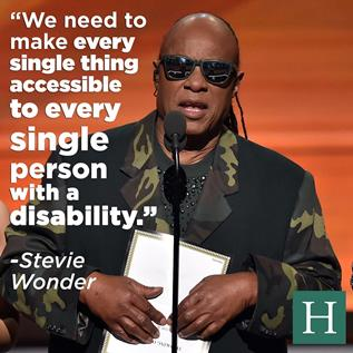 Stevie Wonder Calls for Accessibility at Last Night's