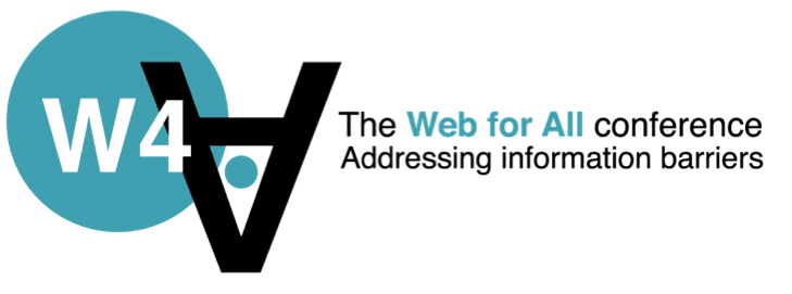 The Web for All Conference logo: addressing information barriers