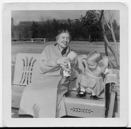 Helen Keller and her niece Adair Faust, 1956