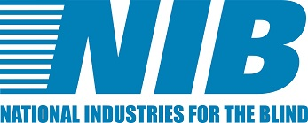 National Industries for the Blind logo in blue