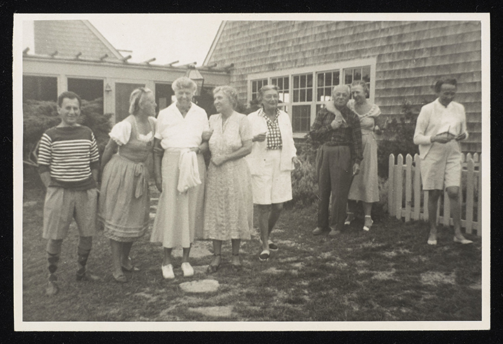 Helen Keller in Martha's Vineyard with famous friends