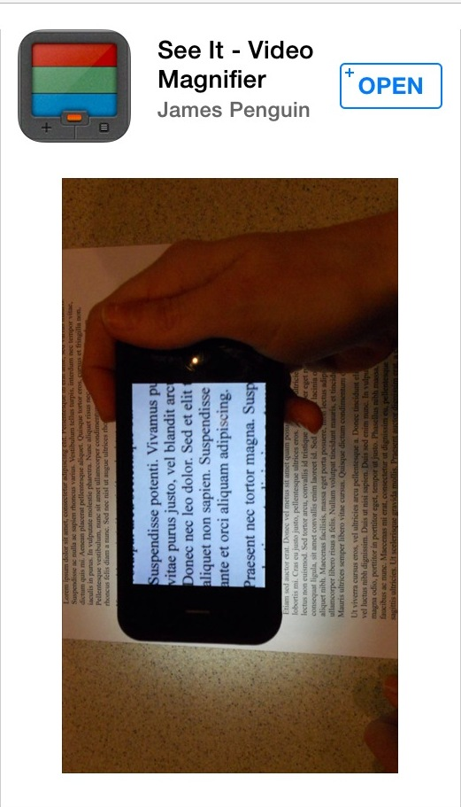 A Comparative Review of iPhone Magnifier Apps | AccessWorld