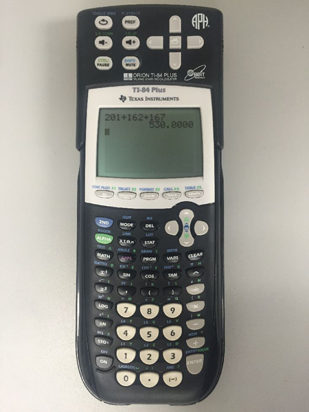 Photo of the Orion TI-84 Plus Talking Graphing Calculator
